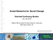 Social Networks for Social Change (...