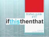 Starters guide for IFTTT