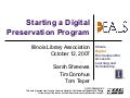 Starting a Digital Preservation Program