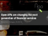 Why Open APIs Are the Next Generation of Financial Services
