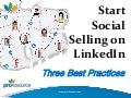 Start Social Selling on LinkedIn
