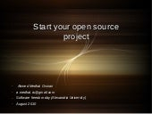 Start your open source project
