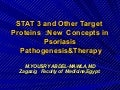 Stat3 &other target  proteins    in  psoriasis by yousry a mawla