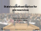 Stateless authentication for microservices