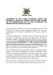 Statement by hon. rukia nakadama is...