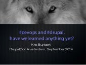 State of devops  and drupal 2014