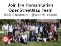 Come Join the Humanitarian OpenStreetMap Team