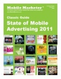 State of Mobile Advertising 2011