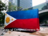 State of philippine competitiveness...