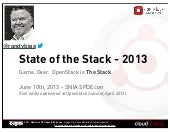 State of the Stack April 2013