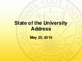 State of the University Address 2010