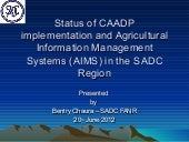 Status of caadp implementation and ...