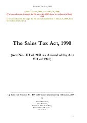 Sales tax act1990