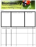 Steam biomimicry insect robot planning sheet