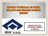 Steel potential in MENA region
