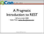 Stefan Tilkov Pragmatic Intro To Rest