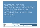 Sustainable public procurement in t...