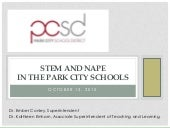 STEM and NAPE in the Park City Schools