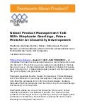 Global Product Management Talk With Stephanie Geerlings, Prime Minister At Cloud City Development