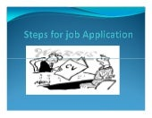 Steps for job application