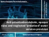 Anti privatization debate, opaque r...