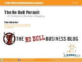 The No Bull Pursuit of Creativity i...