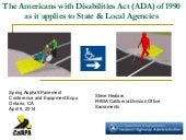 Steve Healow - New ADA requirements...