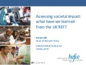 Assessing societal impact: what have we learned from the UK REF?