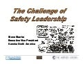 The Challenge of Safety Leadership - Steve Skarke, Kaneka Texas Corporation