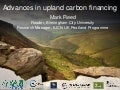 Advances in upland carbon financing