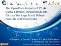 The Open Data Projects of STLab: Digital Libraries, Research Objects, Cultural Heritage, Food, Fishery Products and Smart Cities