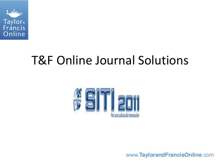 Taylor francis journals
