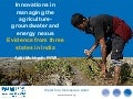 Innovations in managing the agriculture-groundwater and energy nexus
