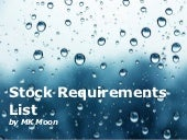 Stock requirements list   md04