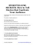 Storytelling secrets for public speaking