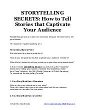 Storytelling secrets for public spe...
