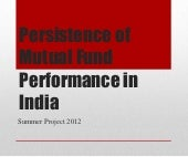 Persistence of Mutual Fund Performa...