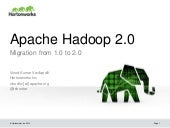 Apache Hadoop 2.0: Migration from 1.0 to 2.0
