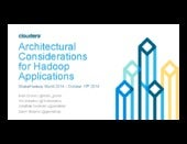 Strata NY 2014 - Architectural considerations for Hadoop applications tutorial