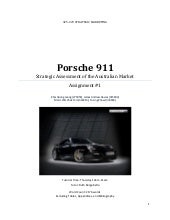 Strategic Analysis Of The Porsche 9...