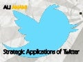 Strategic applications of twitter