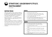 Strategic leadership styles instrument