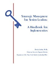 [Book];[Strategic management for le...