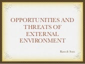 Opportunity and Threat of External ...