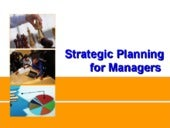 Strategic planning for managers