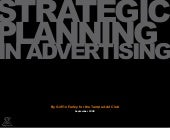 Strategic Planning In Advertising