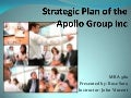 Strategic Plan Of The Apollo Group