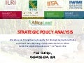 Strategic policy analysis guthiga 11.04.2012