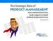 Strategic Role Product Management