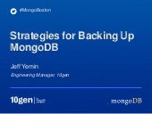 Strategies For Backing Up Mongo Db ...